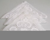 Vintage Handcrocheted Doilies-White Cotton - Set of 4  No:3