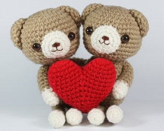 INSTANT DOWNLOAD PDF pattern : Bear in Love