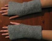 For Mandy  - Grey, Lightly Felted, Merino Wool Wrist Warmers