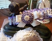 Lavender and Lace Daisy Garter, Ready To Ship