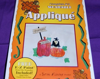 """Thanksgiving/Fall Applique Kit of """"Pumpkins For Sale"""", by Star Rising  Iron On  Ultra Bond Adhesive Backing"""