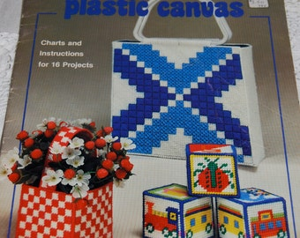 "Plastic Canvas Pattern Book  Vintage 1982 Coats & Clark ""Fun with Plastic Canvas""  Epsteam"