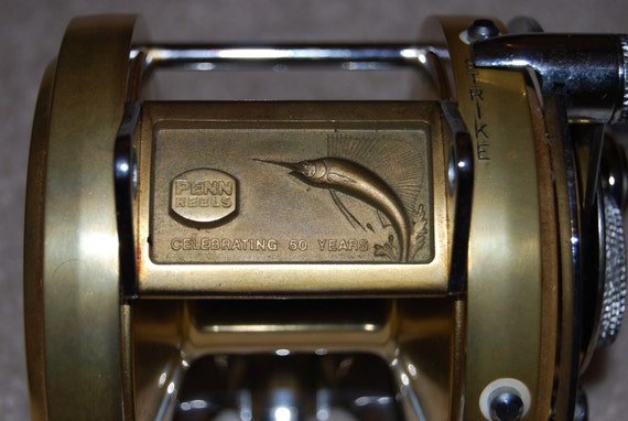 LISTING FOR MANUEL Vintage Penn International 50th Anniversary Tournament Reel - Model 50 No. 34 of 440  1982