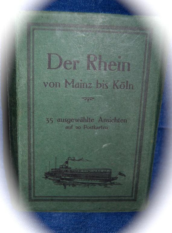 Vintage Postcard Album of 18 Postcards Of Germany - Der Rhein von Mainz bis Koln