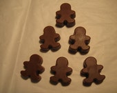 6 Gingerbread Men - Gingerbread Scented