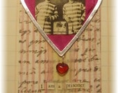 "love gift tag, handmade vintage look, mixed media: ""Prisoner For Your Love"""