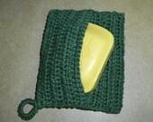 100% Hemp Hip and Handy Hand Crocheted Soap Pouch