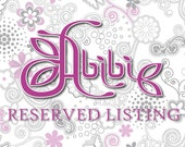 Reserved Listing for AnaKali