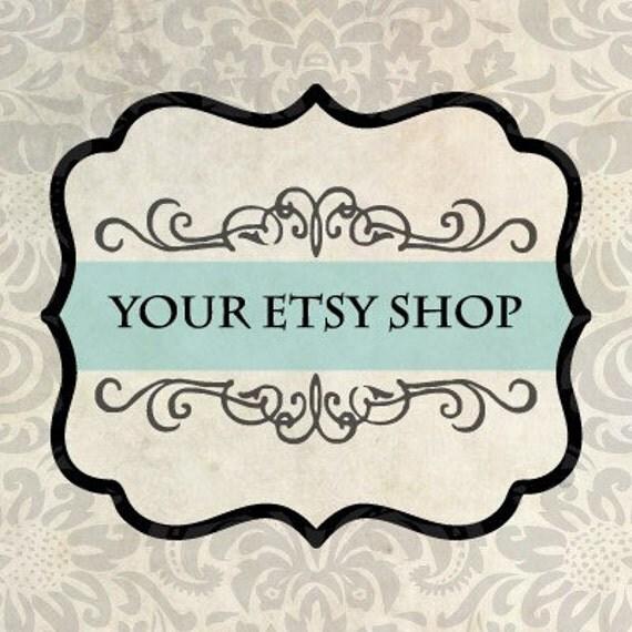 Premade 12 Piece Etsy Shop Set - Vintage Teal