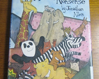 1981 Hardcover A bad Case Of Animal Nonsense By Jonathan Allen
