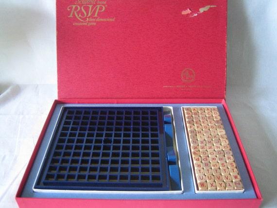 Vintage 1970 Scrabble RSVP 3D Game