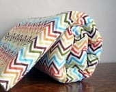 Baby Blanket Rainbow Chevron Plush