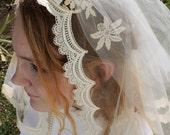 Vintage 1960's Short Wedding Veil