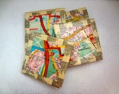 Ceramic Tile Coasters Vintage Map of Munich, Germany