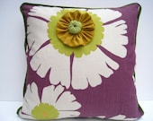 Purple pillow, spring pillow, boho pillow