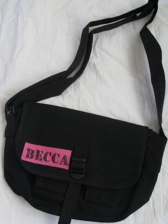 Custom Black Army Messenger Bag