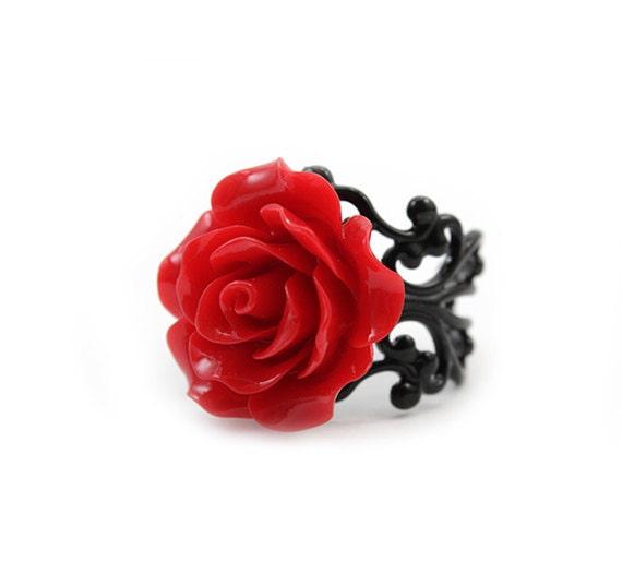 Red Rose Ring - Rosa