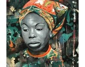 Nina Simone Portrait Print