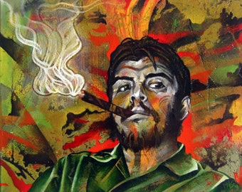 Che Guevara- Portrait, Painting Print