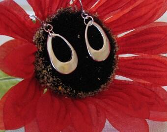 Mother's Day, Handmade Fine Silver Teardrop Earrings, Beautiful Bride Jewelry, Elegant Silver Dangle Earrings, Casual Earrings, Wedding