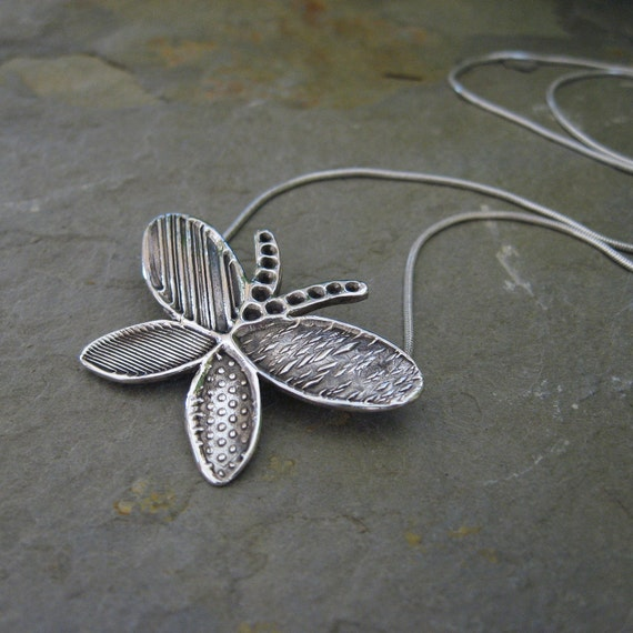 Silver Butterfly Necklace, Handmade Silver Butterfly, Sterling Silver Necklace, Mother's Day Gift, Gift for Mom