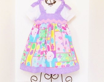 GIRLS EASTER DRESS Size 6 Months to 5 Spring Clothes Baby Toddler 6mo 9mo 12mo 18mo 24mo 2T 3T 4T 5