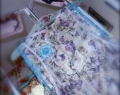 Bohemian Asymmetrical Romantic Lace Sleeveless Draped Chiffon Butterfly Tunic - RESERVED