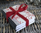 Small Altered Composition Books- Set of Three-Great Valentines gift