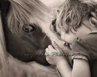 Little Girl & Her Pony 11x14 Fine Art Photograph