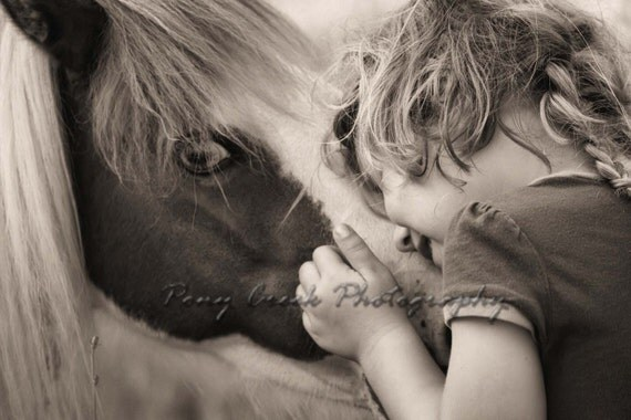 Little Girl & Her Pony 10x15 Fine Art Photograph