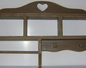 Mini Wooden Country  Multi Shelf with Towel Rack and  2 Pegs