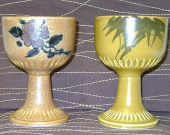 Ceramic goblets made in Japan