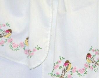 Vintage Hand Embroidered Runner