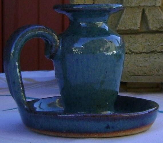 Ceramic candlestick holder