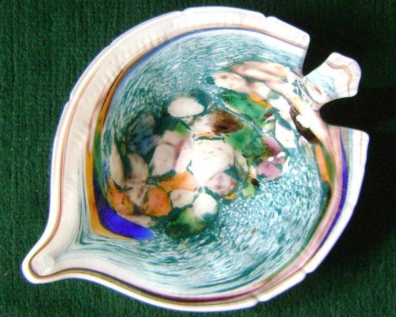 Fun and Funky Art Glass Fish Dish