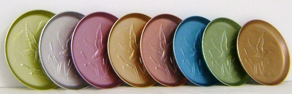 Aluminum Coasters in Pastel Colors Set of 6