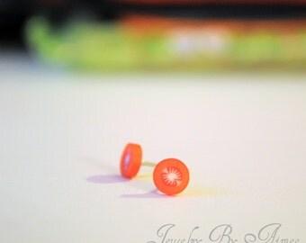 Juicy Tomatoes - Stud earrings