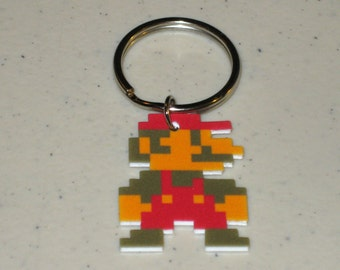 Super Mario NES 8 bit - Keychain, Necklace, Earrings, Charm