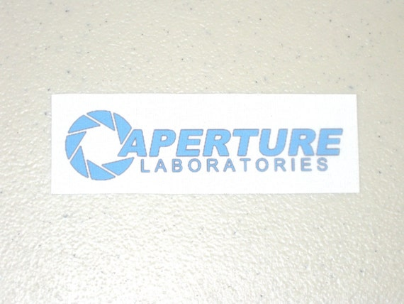 Aperture Science - Blue Iron-On Fabric Transfer