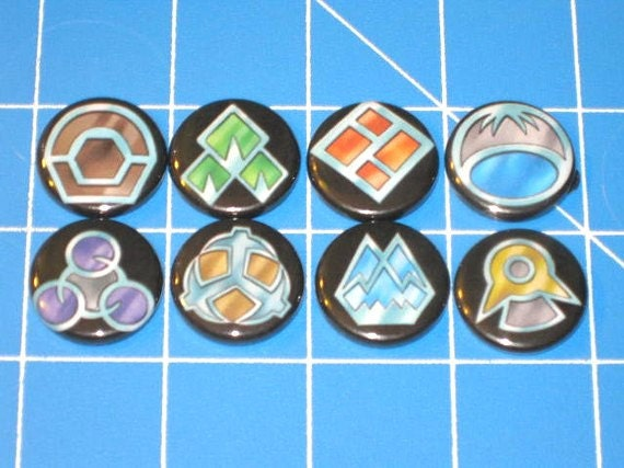 Set of 8 Pokemon Gym Badges - Sinnoh League