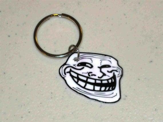 Troll Face - Internet Meme Keychain, Jewelry, Charm, Etc