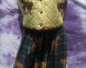 Susan Bristol Petite Large Equestrian style Vest and Skirt Set