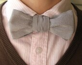 Conductor Stripes Upcycled Bow Tie