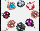 Set of 8 Wire Wrapped Mini Bird's Nests HALF OFF