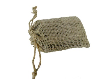Burlap Drawstring Bags 3.5 x 5