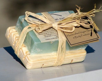 Handmade Vegan Soap Gift Set - Ready for Giving