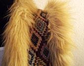 Reserved - VINTAGE -- Furry Gilet --
