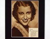 Jeanette MacDonald - Vintage Publicity 1930s