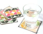 Stamped Graphic Coasters- Set of 5