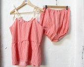 Cozy Coral Cotton Flannel Pajama Set